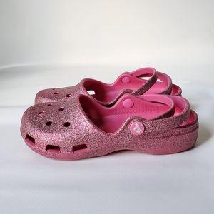 CROCS Glitter Comfortable Sandals EUC